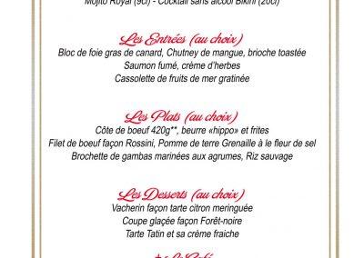Affiche promotion menu de Noël