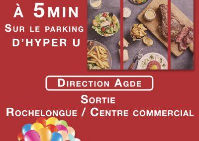 Affiche publicitaire pour le restaurant «Hippopotamus»