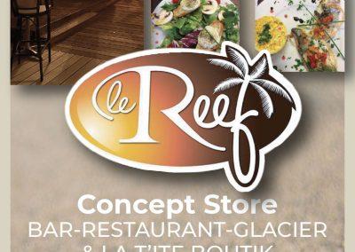 Flyer pour le restaurant «Le Reef»