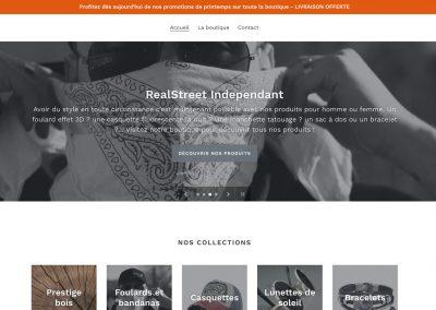 Création d'un e-commerce «Realstreet-Independant»
