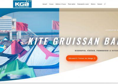 Création du site web de l'association «Kite-Gruissan-Band»