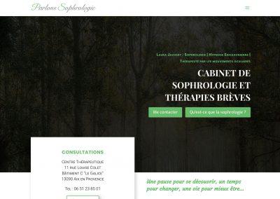 Refonte globale du site web «Parlons-sophrologie» de Laura Jauvert