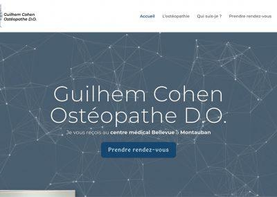 Création du site web «Montauban-osteo.fr» de Guilhem Cohen