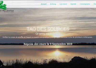 Création du site «tao-des-sources.fr»