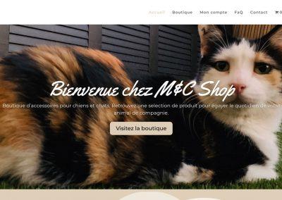 Création du site e-commerce «metcshop.com»